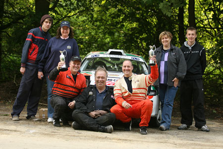 The Toyota Rally Team at Emcos Stages 2008